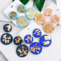 Wholesale polymer clay jewelry earrings resale online - FLASHBUY New Unique Round Pendant Earrings For Women Fashion Color Bohemia Polymer Clay Drop Earrings Jewelry Gift