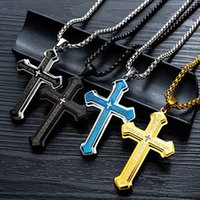 Wholesale stainless steel neck chains resale online - 2020 chain necklace men s neck chains stainless steel Accessories Men s Necklace cross women jewelry on neck Retro