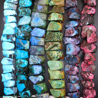 Wholesale agate slab beads for sale - Group buy 15 quot strand Top Drilled Raw Agates Faceted Slab Nugget Beads Colourful Onxy Gems Stone Trapezoid Slice Pendants Jewelry Making