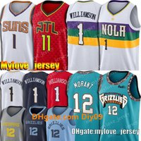 Wholesale zion williamson jersey for sale - Group buy 12 Ja Morant Zion Jersey Williamson Jersey Trae Young Jersey Devin Booker Jerseys Basketball Jerseys Memphis Grizzlies Pelican