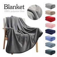 Wholesale full size fleece blanket for sale - Group buy Flannel Fleece Throw Blankets Silver Grey Travel Size Super Soft Fluffy Warm Solid Bed Throws For Sofa Microfiber Blanket