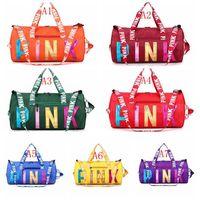 Wholesale travel fashion girl for sale - Group buy Fashion Laser Sport Duffle Bag Large Capacity WaterProof Yoga Tote Luggage Bag Reflective Women Weekend Travel Bag Handbags