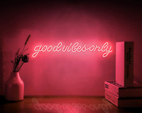 Neon Signs Good Vibes Only Wall Sign Art Decorative Lights Home Bedroom Room Party Holiday Wedding Decoration