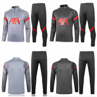 Wholesale team soccer jersey set resale online - 20 Training suit soccer Jersey Europe team football shirts adult kit tracksuit set top quality adult pullover size S XL