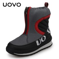 Wholesale red snow boots for kids for sale - Group buy UOVO New Arrival Warm Shoes For Boys High Quality Fashion Winter Boots Kids Snow Boots Children Footwear