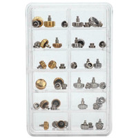 40PCS Watch Crowns Watch Waterproof Replacement Assorted Repair Tools with Box