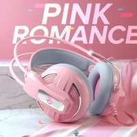 Wholesale 7.1 surround headsets for sale - Group buy Pink Headphones Gaming Headset Wired With Microphone Professional Gamer Surround Sound RGB Light For PC Computer Xbox One