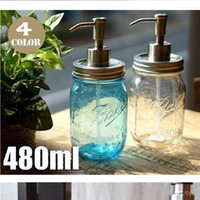 Wholesale stainless steel countertop for sale - Group buy Maon Bottle Liquid Soap Dispenser Pump Jar Lid Stainless Steel Mason Countertop Soap Lotion Dispenser For Bathroom Storage Tools DHF801