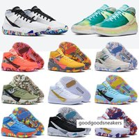 Wholesale kds sneakers for sale - Group buy Kevin Top Quality Durant Kd Basketball Shoes Kds s for Mens Black Blue Camo Soles Bred Designer Trainers Sports Sneakers Size