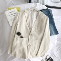 Wholesale beach wear for weddings resale online - Ivory White Leisure Mens Jackets Cotton Two Button Groom Beach Wear For Wedding Spring Summer Men Suits In Stock