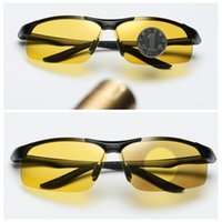 Wholesale outdoor sport night vision sunglasses resale online - Polarized Photochromic Sunglasses Night Vision Driving Semi Rimless Sunglasses fishing outdoor sport Sun Glasses for Men