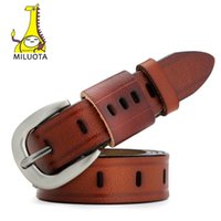 cinturones moda mulher venda por atacado-[MILUOTA] Fashion Belts for Women Vintage Strap Designer Genuine Leather Women Belt cinturones mujer MU031
