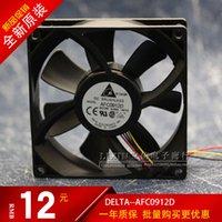 Wholesale 9cm 12v for sale - Group buy Original Delta AFC0912D V A cm four wire with adjustable speed cooling fan mm cooler