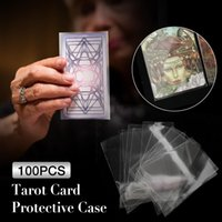 Wholesale 100pcs Oracle Cards Clear Transparent Card Sleeves Table Game Magic Game Protector Tarot Cards Protector Board Game Card Case bbyeFf