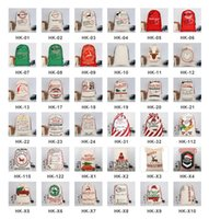 Wholesale gold drawstring bags for sale - Group buy 2021 DHL Christmas Gift Bags Large Organic Heavy Canvas Bag Santa Sack Drawstring Bag With Reindeers Santa Claus Sack Bags for kids