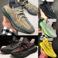 ingrosso donne yeezy-Adidas Yeezy 350 V2 Running shoes Static Reflective Kanye west riflettenti Belgua 2,0 congelati Casual Shoes Semi Uomini Donne Trainer Sneakers Eur 36-47