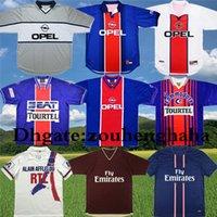 Wholesale 90 Retro Paris ANELKA OKOCHA WEAH soccer Jersey IBRAHIMOVIC classic Football shirt