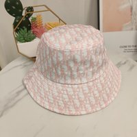 Wholesale printed bucket hats resale online - Spring Summer fashion men s and women s multi purpose letter printed bucket hat fisherman hat outdoor travel sun hat