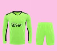 Wholesale goalie jerseys resale online - 20 Ajax Soccer Jersey Shorts Goalkeeper Short Sleeve Soccer Kits Top Thai Quality AJAX Goalie Long Sleeve Football Shirts Pant