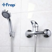 conjunto de chuveiro simples venda por atacado-Simples Frap Torneira Banheiro F2003 Faucet Set Mixer E Single Handle Shower Estilo 1 Fria Hot Water Tap SNqsZ mx_home