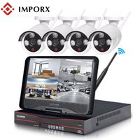 Wholesale video lcd cctv for sale - Group buy IMPORX Ch P HD NVR Wireless CCTV System With quot LCD Outdoor IR IP Camera Security System video Surveillance Kit TB HDD