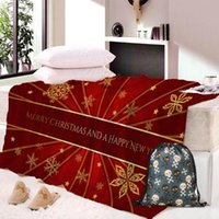 Wholesale custom throw blankets for sale - Group buy Custom DIY D Christmas Blanket with Spots Sherpa Fleece Wearable Plush Throw Blanket on Bed Sofa Thick Warm Travel