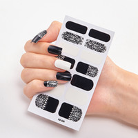 Wholesale strips nails for sale - Group buy Full Nail Wraps Art Polish Stickers Leopard Decal Strips Adhesive False Nail Design Manicure Set D Shiny Nail Stickers RRA3560