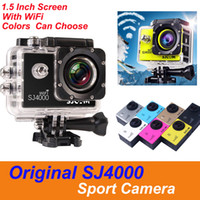 Wholesale sale waterproof digital camera resale online - Hot Sale Original SJCAM WiFi SJ4000 P Full HD Action Digital Sport Camera Inch Screen Under Waterproof M Recording Video Camera