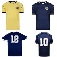 Wholesale scotland jersey for sale - Group buy 1986 world cup Scotland soccer jerseys yellow blue Retro classic Vintage antique Collection football shirts STACHAN SOUNESS McSTAY