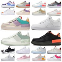 para mujer zapatillas de deporte de la plataforma al por mayor-air force 1 shadow af1 forces airforce one zapatos de plataforma low high top sneakers shadow classic triple white mens womens casual skateboard zapatillas deportivas