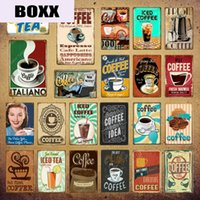 Wholesale paint ideas resale online - Italiano Coffee Metal Signs Idea Tea Plaque Metal Vintage Wall Decor For Kitchen Bar Cafe Retro Posters Iron Painting YI