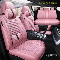 Wholesale fashion flax for sale - Group buy 2020 Flax fashion stitching leather car seat covers For Audi a3 a4 A4L Q2 Q3 Q5 Universal size Full set new style fit sedan suv pink