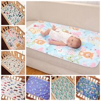 Wholesale baby change pad covers resale online - Blanke Changing Mat Cartoon Sheet Waterproof Baby Changing Pad Blanke Nappy Urine Pads Table Diapers Game Play Cover Infant Blanke OWC2141