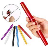Wholesale pen reels for sale - Group buy Lightweight Mini Portable Pocket Fish Pen Shape Aluminum Alloy Fishing Rod Pole Reel Tackle Tools