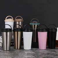Wholesale stainless steel thermos mug resale online - oz Insulated Thermos Vacuum Flasks Coffee Mug Tumbler ml Office Outdoor Portable Stainless Steel Water Tumbler