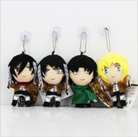 Wholesale ems video games for sale - Group buy Attack on Titan Mikasa Ackerman Ellen Jaeger In stark lance Plush Soft Dolls Toys Approximately CM high quality EMS