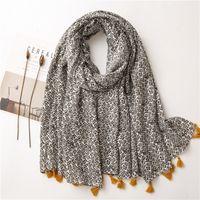 Wholesale new fashion hijab turban scarf resale online - Fashion twig printing scarf with tassels hijab kaleidoscopic shawl soft turban new women muslim hijabs hot sale colors
