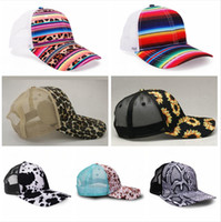 Wholesale caps printed shades for sale - Group buy 7Styles Leopard Color Striped Mesh Hat Printed Duck Tongue Visor Indian Style Sun Shade Cap Breathable Washable Adjustable Dome Hats LJJP486