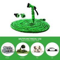 Wholesale water hoses resale online - 25FT FT Garden Hose Expandable Magic Flexible Water Hose EU Hose Plastic Hoses Pipe With Spray Gun To Watering Car Wash Spray