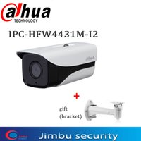 Wholesale dahua 4mp for sale - Group buy Dahua IP Camera IPC HFW4431M I2 MP POE H Full HD Network IR80m IVS Camera cctv network with bracket