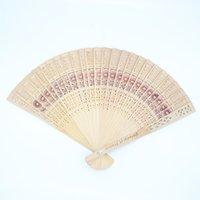 Wholesale fan laser for sale - Group buy Laser cut personalised wooden hand fan return gifts for wedding