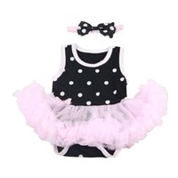 Wholesale handmade baby outfits for sale - Group buy Handmade Baby Doll Outfit Polka Dots Romper Dress for Reborn Girl Doll
