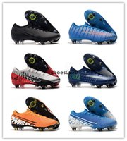 Wholesale neymar jr new cleats for sale - Group buy Mercurial Elite SG low soccer shoes sneakers football cleats boots Neymar Jr new lights under the radar cr7 youth kids adult dream speed
