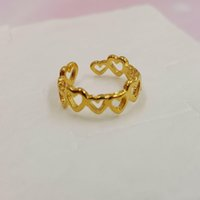 Wholesale children's rings for sale - Group buy Gold Sand ring open Hollow children s ring couple s ring gold sand jewelry gift