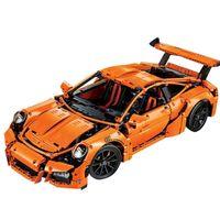 Technic super racing sports car 20001 Orange MOC building blocks bricks 2 toys for kids christmas gifts LJ200925