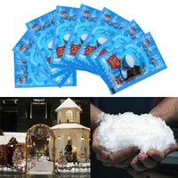 Wholesale artificial snow decorations resale online - Artificial Snowflakes Fake Magic Instant Snow Powder For Home Wedding Snow Christmas Decorations Festival Party Supplies BWB2000