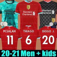 Wholesale 20 LVP Mohamed M SALAH FIRMINO THIAGO soccer jersey football shirt DIOGO JOTA J VIRGIL L Verpool Men Kids kit uniforms