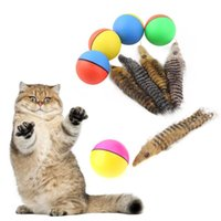 Wholesale moving ball resale online - 1 Pet Products Beaver Weasel Rolling Motor Ball Pet Cat Dog Kids Chaser Jumping Fun Moving Toy For Cat