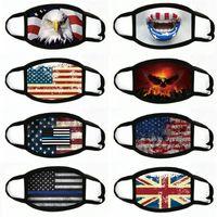 Wholesale tubular bandanas resale online - Mens Cycling Motorcycle Head Magic Tubular Warmer Face Bandanas Mask Hiking Headwear Flag USD Face Mask