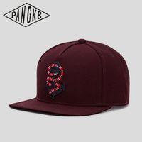 Wholesale wine snapback resale online - fashion wine red snapback hat hip hop Headwear for men women adult casual sun baseball cap